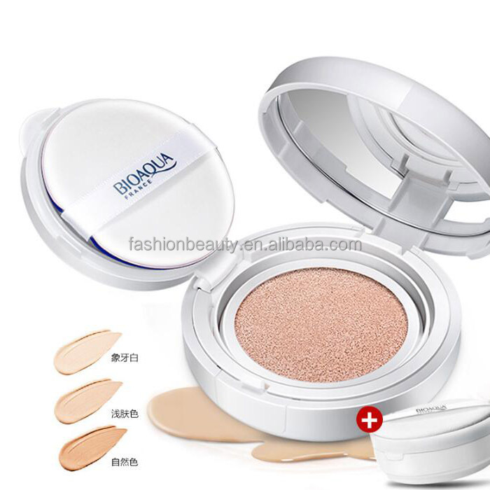 Foundation BB Cream with Sponge Puff Conceal Cream Air Fushion Comestic BB Cream