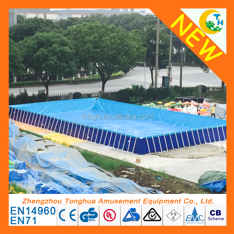 New product metal steel frame swimming pool with factory price, metal frame pool