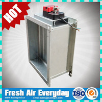fire smoke air damper motorized volume control damper