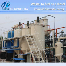 Tyre/plastic pyrolysis oil to diesel distillation plant