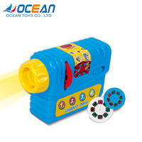 Children cheap slide drawing projector toy with 3pcs built-in slides