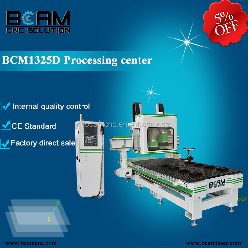 JINAN BCAMCNC 1325C auto tool changing cnc router metal 3 axis cnc machine center