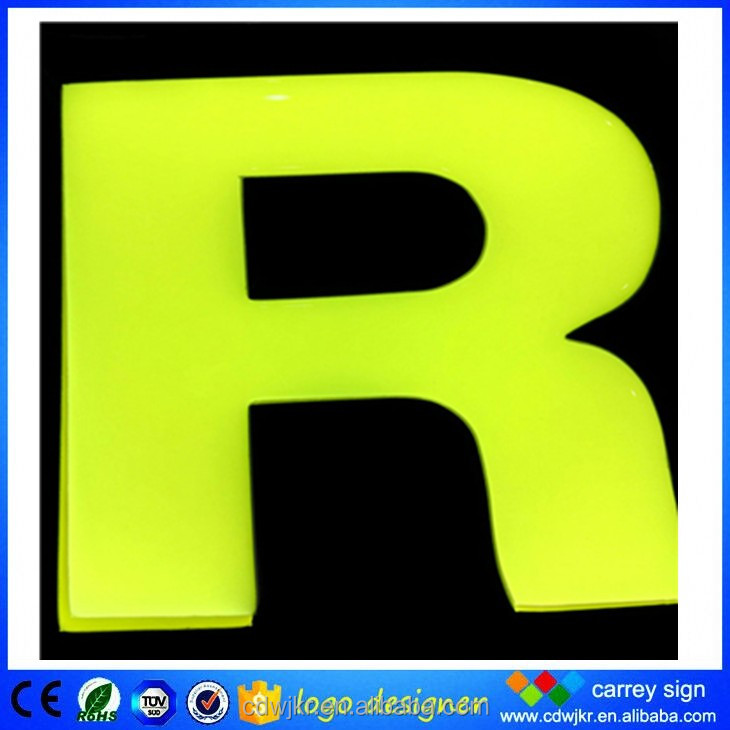 Yellow resin indoor decoration and storefront led sign letter