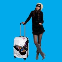 2012 New style PP luggage trolley case with zipper