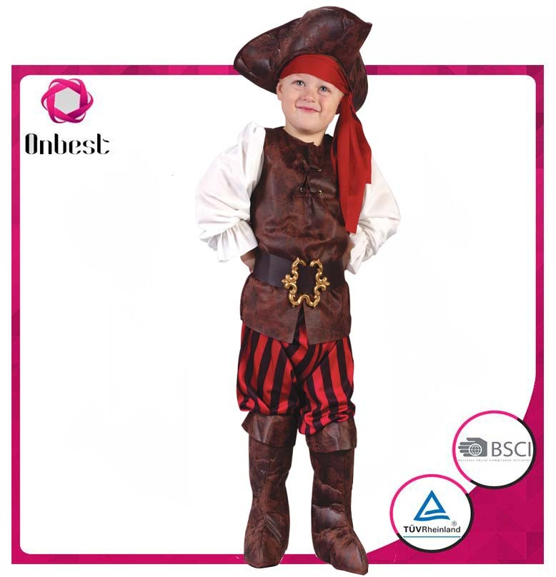 Popular pirate costume Party supplies kids theme new arrival brazilian carnival costume