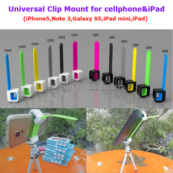 2014 New Design Holder Q Universal Tripod Monopod Clip Mount 20-140mm Extendable for iPad Tablet PC iPhone Samsung Mobile Phone