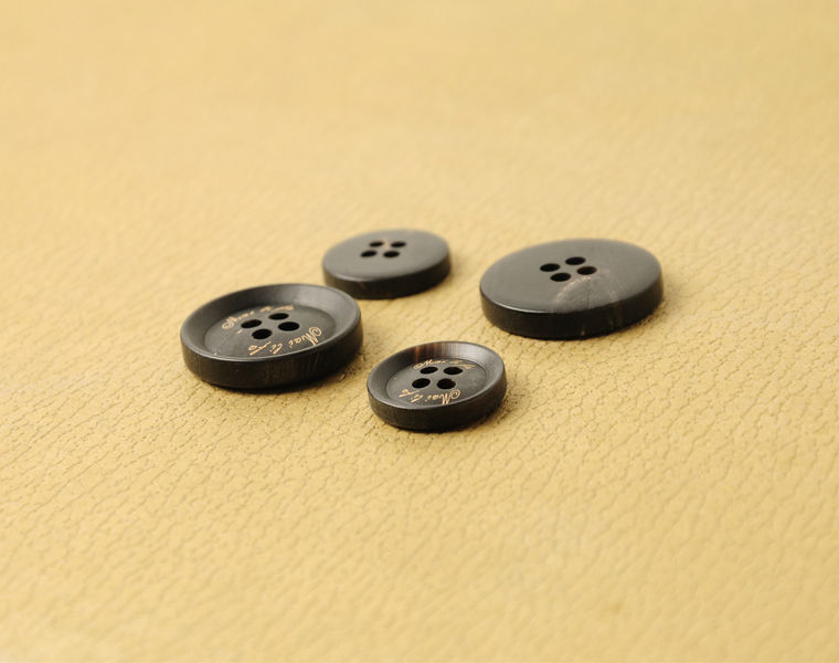Beautiful Engraved Horn Buttons Round Four Holes Designer Button