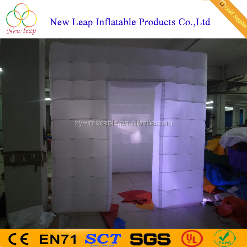 Led Light photo booth with camera and printer inflatable photo booth for party