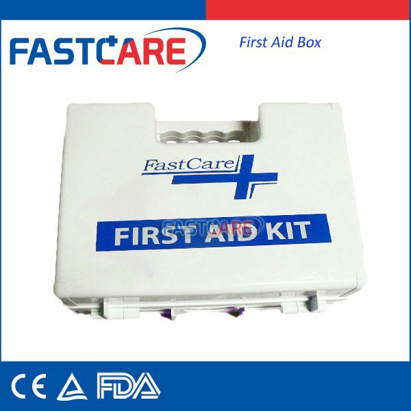 China Empty Plastic First Aid Kit Box With CE ISO DIN13169