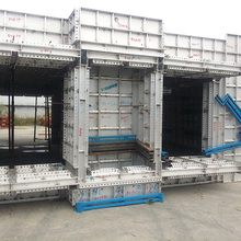 Recycling aluminum concrete construction formwork