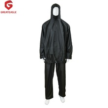 190t nylon fabric black heavy duty rain suit RC201