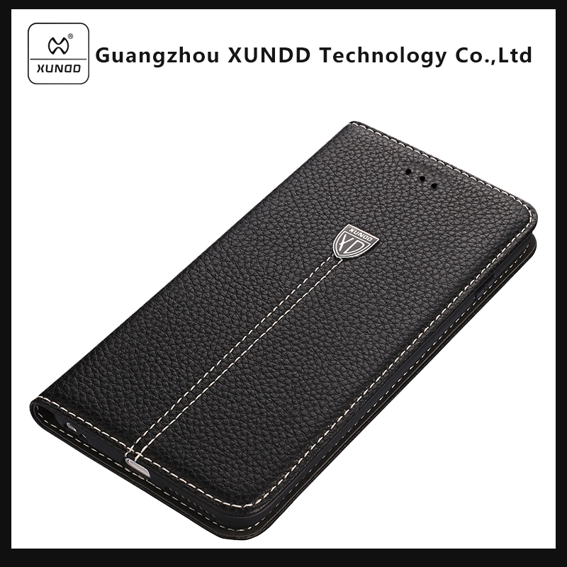 XUNDD Brand Black Color Noble Series Wallet PU Leather Case with Standing Function for iPhone 7