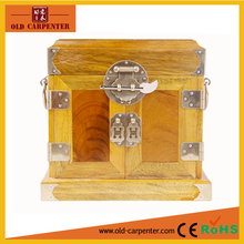 Chinese antique mirror handmade wooden jewelry box