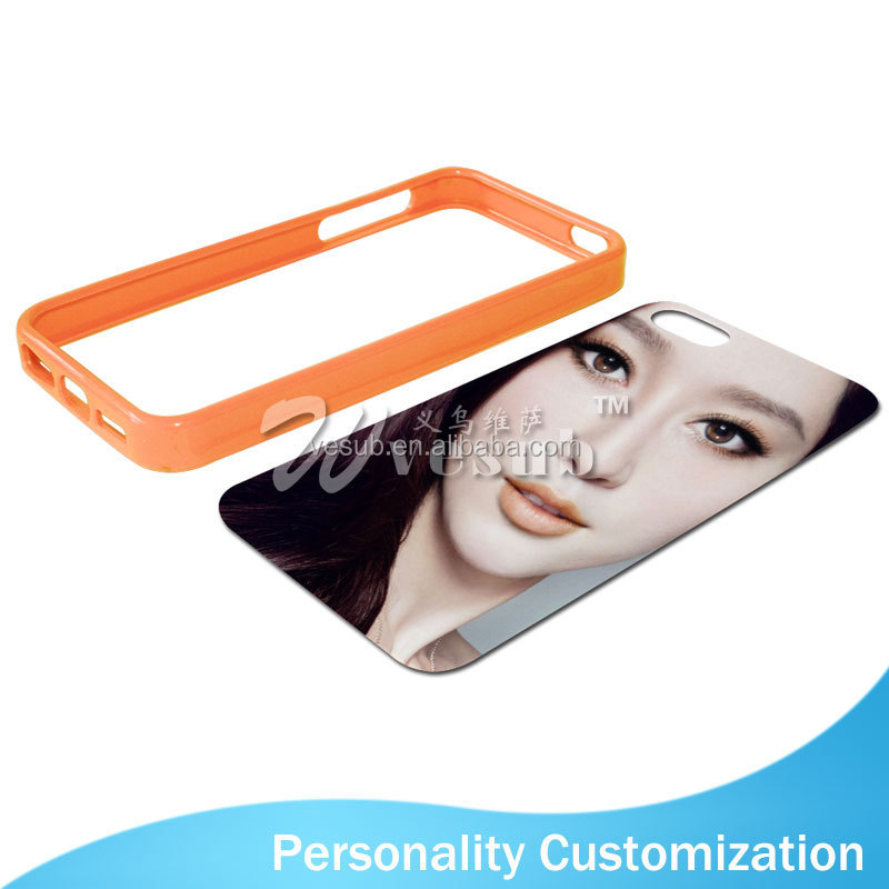 Sublimation Coated DIY 2D uv printing phone case for iPhone5/5s