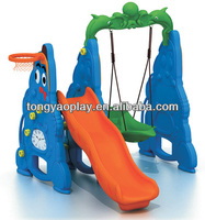 2014 China baby safety plastic swings slide