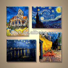 Popular handmade home decor printed canvas painting