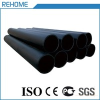 The cheap price water supply black plastic 2 inch poly pipe prices