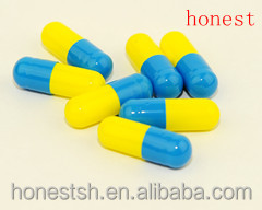 blue and yellow color ,vegetable capsule,colored capsule