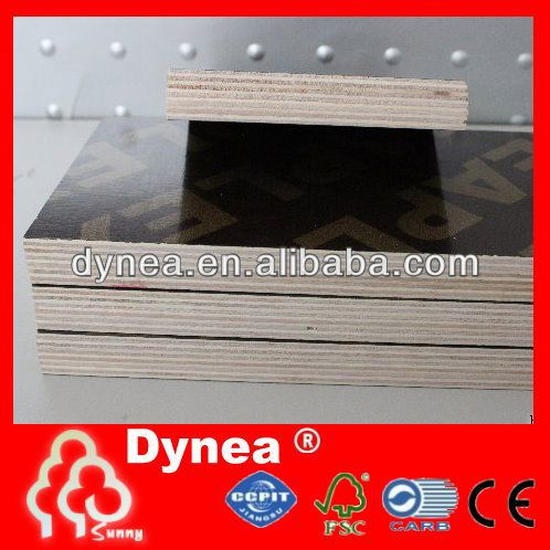 Dynea waterproof plywood/concrete shuttering plywood for construction/phenolic plywood board from shandong
