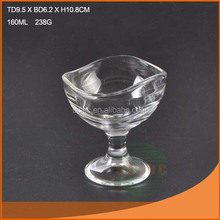Good quality and nice design glass cup ice cream for Ikea quality