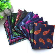 Best Quality Custom Polyester Pocket Square Mens Printed Handkerchief