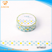 decorative adhesive tape hot sale fashionable paper colored masking tape