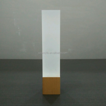 Customized cylinder frosted acrylic led night light for wholesale