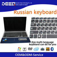 "Metal Case 15.6"" Russian Keyboard Laptop Computer 1920*1080P Screen 4GB RAM 32GB SSD+320GB HDD Support USB 3.0 Factory Price"