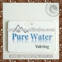 Eco-friendly pure water hanging paper car air freshener