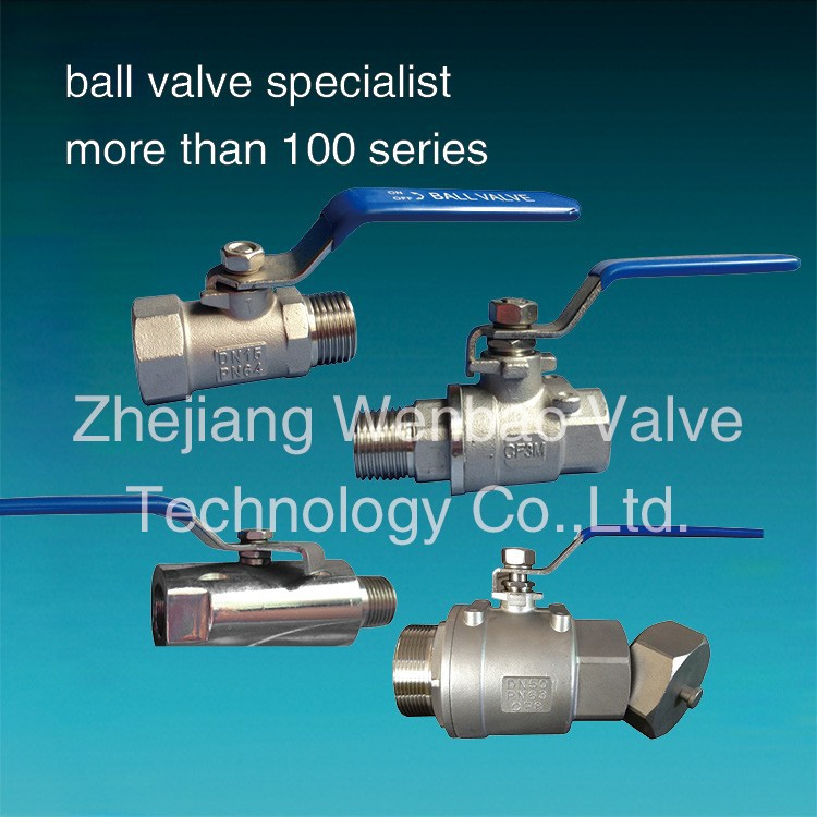 mini stainless steel 2 inch ball valve cf8m 1000wog / male to female 1 inch ball valve China
