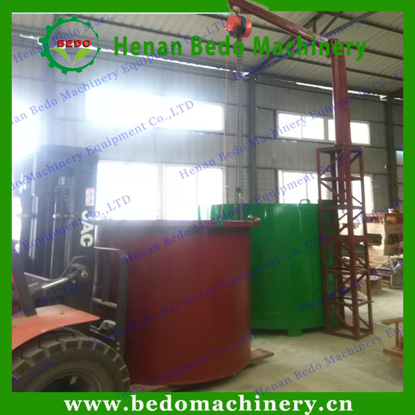 Nature Wood Carbonization Making Machine Walnut Charcoal Furnace
