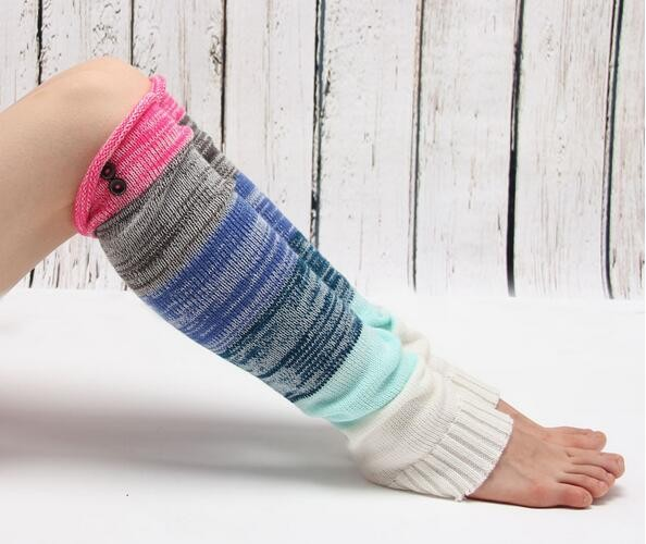 Knit womens leg warmers knee high socks winter accessories Chunky wool socks Colorful long leg warmer