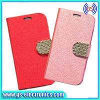 New Luxury Leather Magnetic Flip Case For iPhone 4 Flip Case Cover