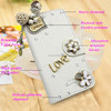 3D Rhinestone leather Cell phone case for LG F60