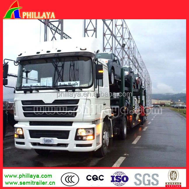phillaya hot sale 3 axles Car carrier trailer can transport 6 cars semitrailer for vietnam