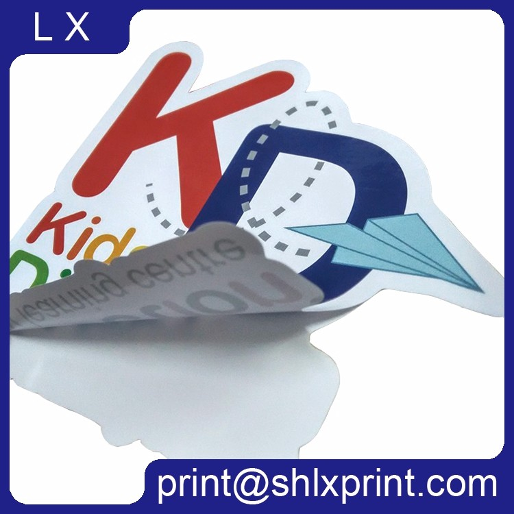 Custom Printed Waterproof Adhesive Die-Cut PVC Logo Sticker