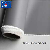 fiberglass cloth for waterproofing fiber glass cloth Fireproof Silicone Coated Fiberglass Fabric