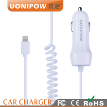 Usb Car Charger with line ,5v2.1a usb car charger for ipad/iphone/samgsung
