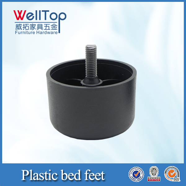 Adjustable plastic feet for metal chairs