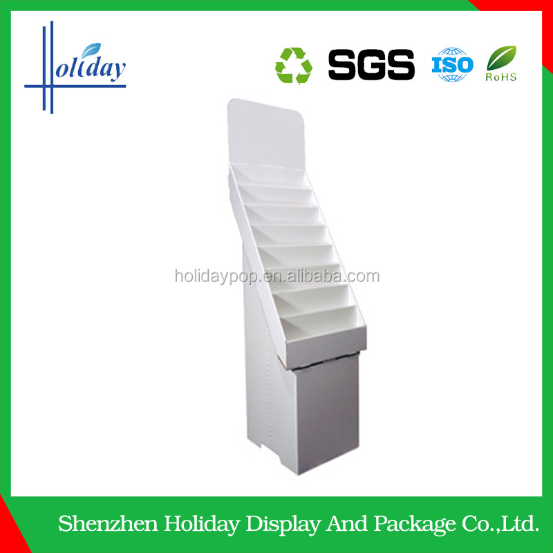 book retail advertising cardboard display stand