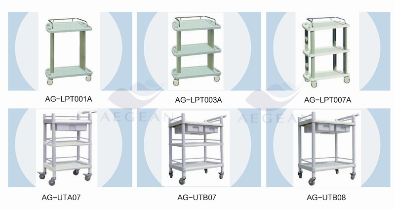 stainless steel food tray trolley