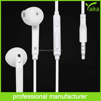 Hot sales earphone white earburd for Samsung S6 mobile phone accessories with mic and volume control