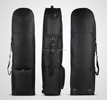 black golf bag cover case with wheels