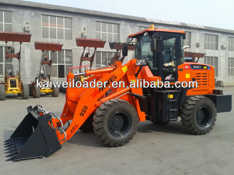 CHINA KAIWEI brand Cummin zl920 mini wheel loader 2 ton for sale