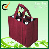 6 bottle wine cardboard bottle carrier bag