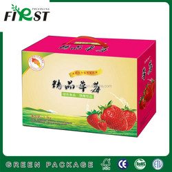 Paper Box Food Corrugated Packaging/Container, paper corrugated box packaging for fresh fruit
