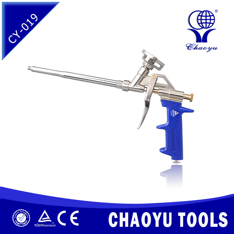 CY-019 High Performing Spray Foam Insulation Applicator Gun With Stainless Steel Gun Barrel and Adjusting Adaptor