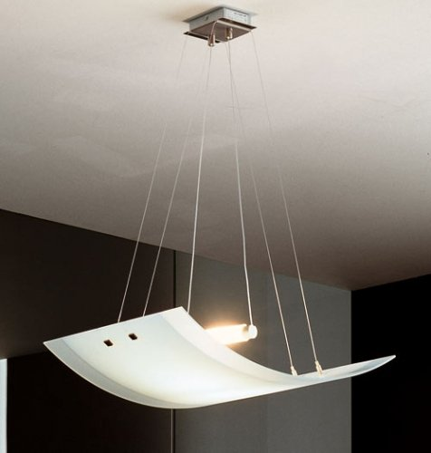 Glass hanging lamp