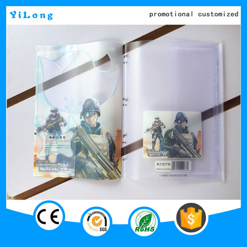 Wholesale Classic plastic PP Polypropylene film book cover with customized A4 pvc book cover