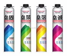 JUHUAN fire retardant spray polyurethane foam, water proof PU foam, high expanding PU foam